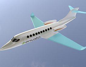 3D asset business jet
