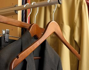 3D model Wood Hanger for Dress Shirt Sweater