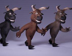 3D asset Toon Humanoid Bull