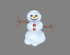 3D asset Cartoon snowman