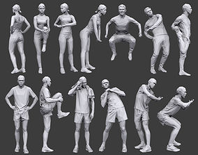 3D asset Lowpoly People Fitness Pack