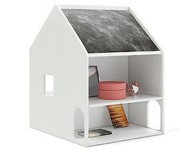 3D model House Shape Shelf with Blackboard