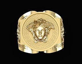 3D printable model 1538 Super Product Versace Gold Ring 6