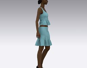 3D model Crop Top Skirt