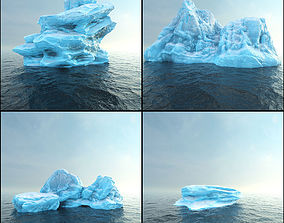 Photorealistic V-Ray render ready Iceberg 3D asset