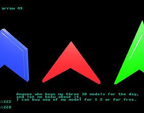 3D asset Low poly arrow 49