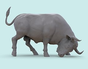 buffalo 3D print model Bull on the Corrida