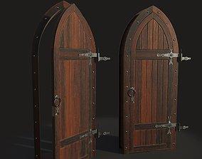 3D model Gothic door