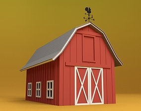Cartoon Barn 3D model