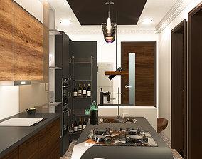 furniture kitchen 3D model realtime