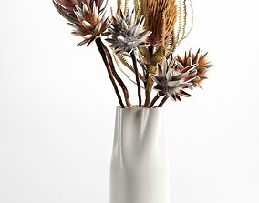 composition Vase with Flowers 3D