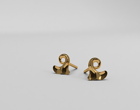 3D printable model Thin baroque pattern earrings