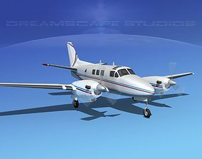 Beechcraft King Air C90 V05 3D model