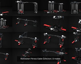 3D model Multistation Fitness Cable Collection