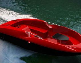 speedboat motorboat 3d model realtime