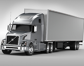 Volvo VNL670 2016 semi 3D model