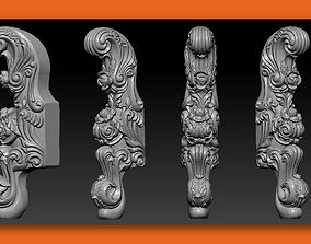 CABRIOLE CARVED Furniture Leg 3D 4