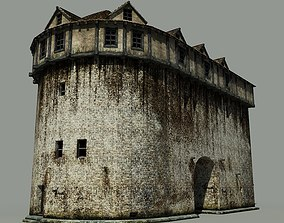 Medieval Building 3D model game-ready