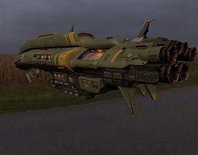 3D asset Crusader Spaceship