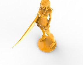 surf girl 3D printable model