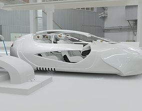 3D model Affekta US4 Future Sci-Fi Concept Fly Car with 4