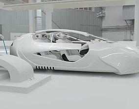 3D model Affekta US4 Future Sci-Fi Concept Fly Car with 3