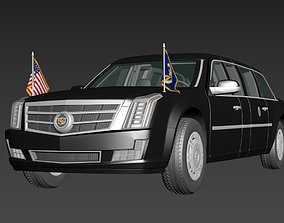 Cadillac US Presidential State Car with HQ 3D model