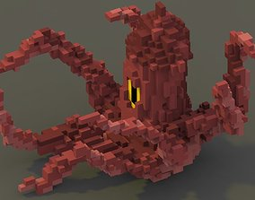 3D asset Sea Monster Voxel Model