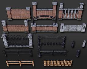 3D model Fences Pillars Hitching Posts Gates - 107 2