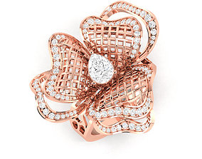 Women Cocktail Ring stl render 3D print model