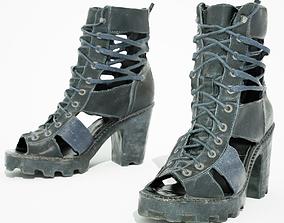 3D model Black Sandal Heels