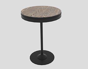 LumiSource Dakota Round Adjustable Height Bar 3D asset