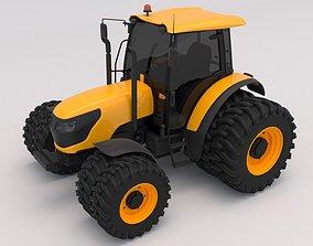 3D model Generic Yellow Tractor