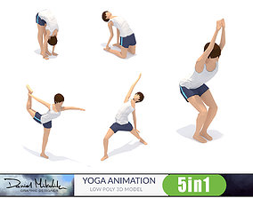 5 Yoga Pose Animations Small Pack 3D asset