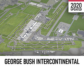3D model Houston George Bush Intercontinental Airport -