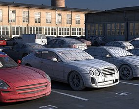 3D model Parking With Cars Collection
