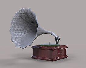 Gramophone 3D model low-poly