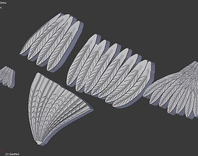 Feathers 3D print model