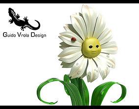 3D model Cartoon Daisy