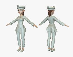 3D asset Cartoon Cook Girl