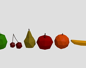 3D asset Lowpoly fruits