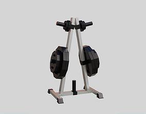 Weight holder - Gym Equipment 3D model