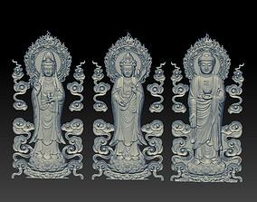 3D printable model Three buddhas