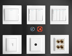 Chint 7L Series Switch And Socket 3D