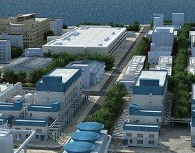 Refinery Port Harbour collection 2 3D model