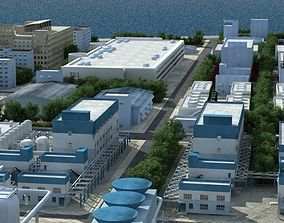 Refinery Port Harbour collection 2 3D model