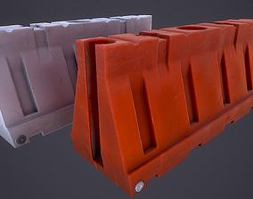 3D asset realtime Plastic Barrier