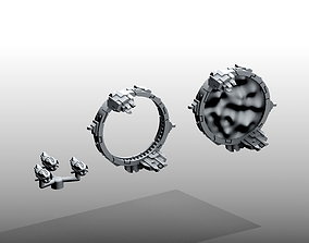 3D printable model Space portals and Drone squadron - 2