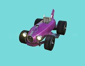 3D asset Kart Vehicle 03 - Racing Car - Female Girl Pink