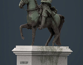 Equestrian statue of Louis XIV 3D